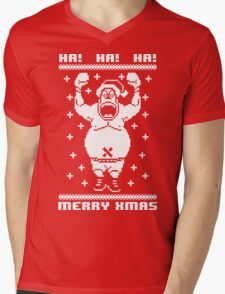 Ugly Xmas Sweater Mens V-Neck T-Shirt