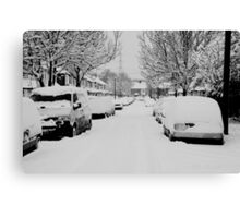 Snow Street Scene Canvas Print