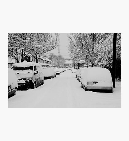 Snow Street Scene Photographic Print