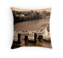 Pont de St. Goustan & Riviere d'Auray, Bretagne, France Throw Pillow