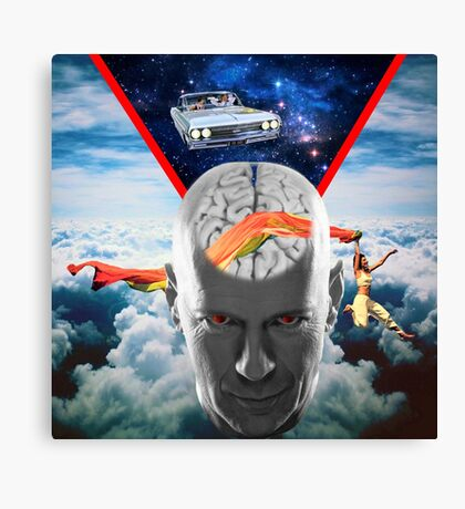 Mental Floss (Staring Bruce Willis) Canvas Print