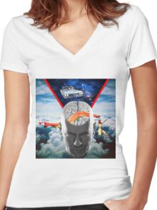 Mental Floss (Staring Bruce Willis) Women's Fitted V-Neck T-Shirt