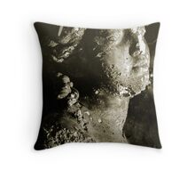 sepia bust Throw Pillow
