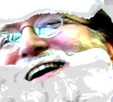 Merry Christmas GabeN (Glow) Sticker