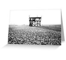 stilt house at the beach Greeting Card