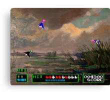 Game Painting Duck Hunt Canvas Print