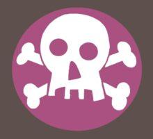 Pink skull  by poppykitten