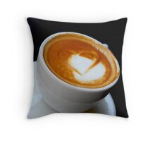 Coffee heart Throw Pillow