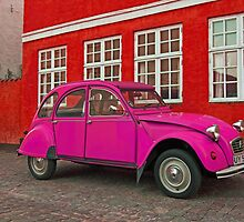 Pink Citroen 2CV by Andreas Mueller