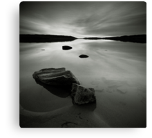 Beach, Rocks and Water Canvas Print