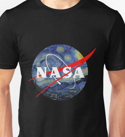 Van Gogh Starry Night Nasa Unisex T-Shirt