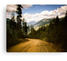 Canadian Lookout Road Canvas Print