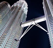 Silver Glow at Night IV - Kuala Lumpur, Malaysia. by Tiffany Lenoir