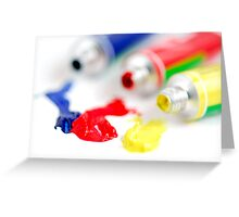 Primary colors paint Greeting Card