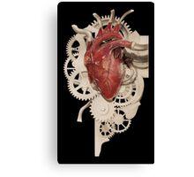 Heart and Clockwork Canvas Print