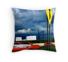 red cars Throw Pillow