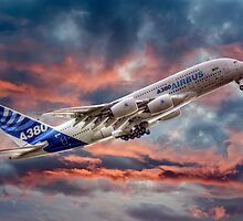 Airbus A380 - Sunset by © Steve H Clark