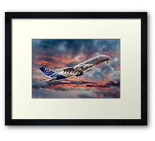 Airbus A380 - Sunset Framed Print
