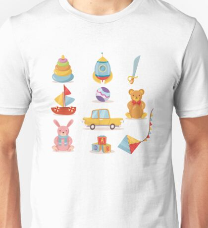 Set of Toys for Kids in Retro style Unisex T-Shirt