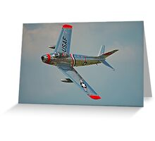 F-86 Sabre Greeting Card