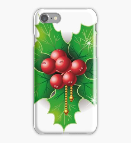 Holly Buxus Isolated on White iPhone Case/Skin