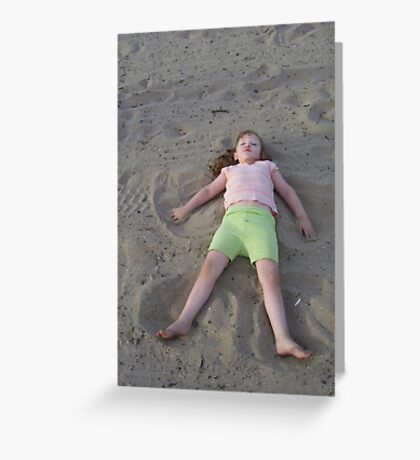 Angel in the Sand Greeting Card