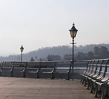 Pier with Gas Lamps by Paul Campbell