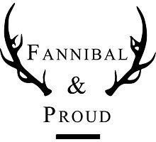 'Fannibal & Proud' (Black Font) Photographic Print