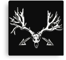 Monster mule deer skull 2 Canvas Print