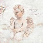 """The Littlest Angel """"Merry Christmas"""" ~ Greeting Card by Susan Werby"""