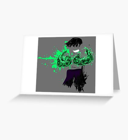 Green Death  Greeting Card