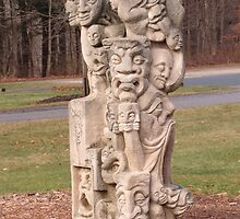 Face Sculpture on the grounds of the Norman Rockwell Museum by RPBURCH  by Richard  Burchell