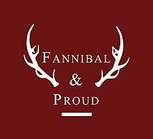 'Fannibal & Proud' (Wine Background/White Font) by tirmedesign