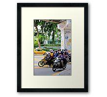 Street Riders - Kuala Lumpur, Malaysia. Framed Print