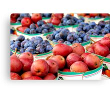 Fruits for sale Canvas Print