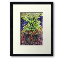 The Green Mother Framed Print