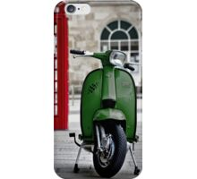 Italian Green Lambretta GP Scooter iPhone Case/Skin