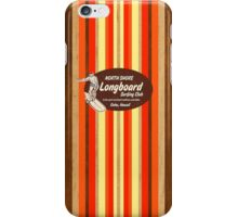 Pipeline Striped Hawaiian & Club Surfing Logo - Red  iPhone Case/Skin