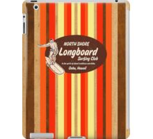 Pipeline Striped Hawaiian & Club Surfing Logo - Red  iPad Case/Skin