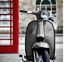 Italian Grey Lambretta GP Scooter by AJ Airey