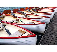 Rowboats Photographic Print