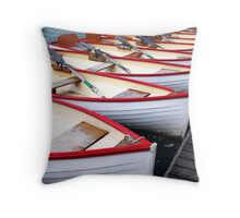 Rowboats Throw Pillow