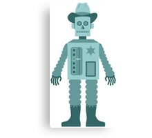 Cowboy Robot Canvas Print