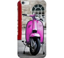 Italian Pink Lambretta GP Scooter iPhone Case/Skin