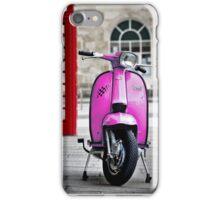 Italian Pink Lambretta GP Scooter iPhone Case/Skin