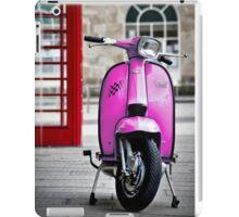 Italian Pink Lambretta GP Scooter iPad Case/Skin
