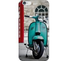 Turquoise Lambretta GP iPhone Case/Skin