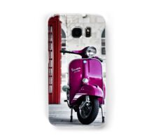 Italian Pink Vespa Rally 200 Scooter Samsung Galaxy Case/Skin