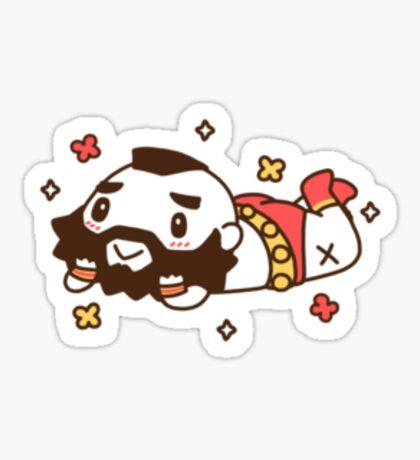 Zangief Flowers Sticker