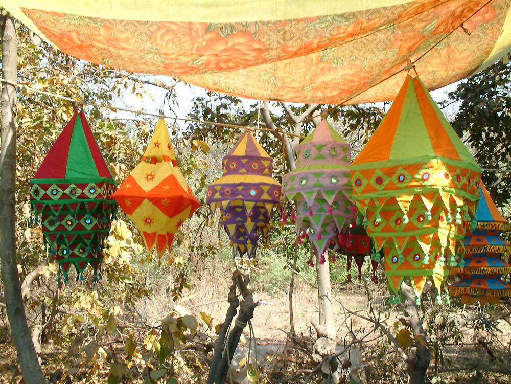 Coloured Lanterns Bombay by Linda Bretherton